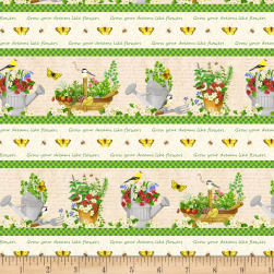 From the Garden Repeating Stripe Multi Fabric
