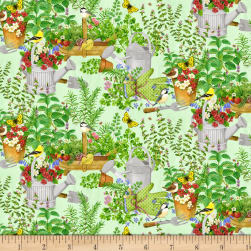 From the Garden Garden Scenic Multi Fabric