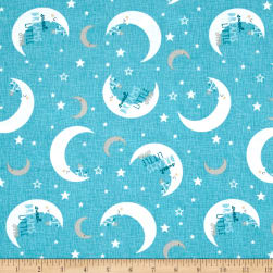 Wilmington Sweet Dreams Little One Moon Toss Teal