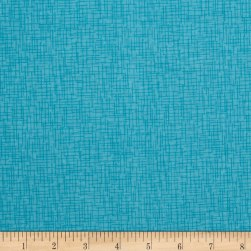 Wilmington Sweet Dreams Little One Crosshatch Teal Fabric