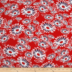 Kanvas Love American Style Daisy Jane Red Fabric