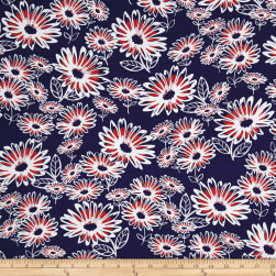 Kanvas Love American Style Daisy Jane Navy Fabric