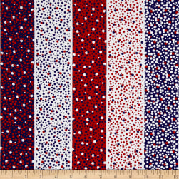 Kanvas Love American Style Dotted Stripe Multi Fabric