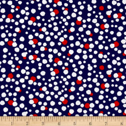Kanvas Love American Style Patriotic Dot Navy Fabric