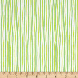 Kanvas Funny Bunnies Wavy Stripe Green/Lime Fabric