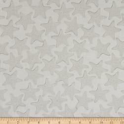 Kanvas White Out Starfish Silver/White Fabric