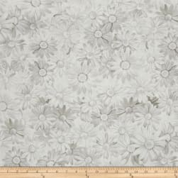 Kanvas White Out White Daisy Taupe/White Fabric