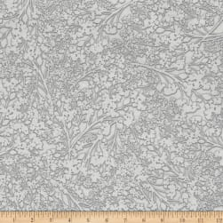Kanvas White Out Silver/White Fabric