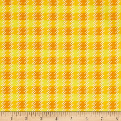 Kanvas Zoo Baby Zoo Plaid Yellow Fabric