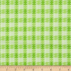 Kanvas Zoo Baby Zoo Plaid Green Fabric