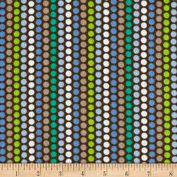 Kanvas Zoo Baby Flannel Zoo Dot Brown Fabric