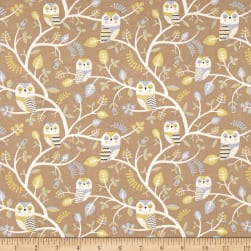 Kokka Trefle Animals Owl & Tree Canvas Latte