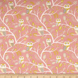 Kokka Trefle Animals Owl & Tree Canvas Pink
