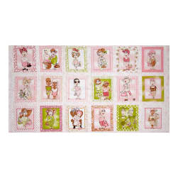 Loralie Designs On The Mend 23.5'' Panel Pink Fabric