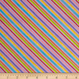 Loralie Designs Blossom Bias Stripe Purple Fabric