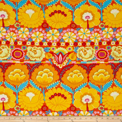 Artisan by Kaffe Fasset Embroidered Flower Yellow Fabric