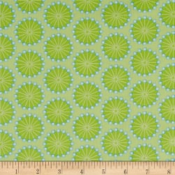 Sewing Room Pins Green Fabric