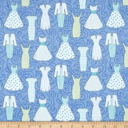 Sewing Room Dresses Peri Blue Fabric