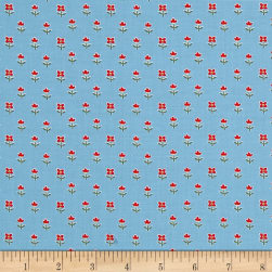Benartex Simply Chic Floret Sky Blue Fabric