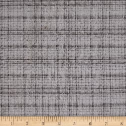 Marcus Primo Plaids Hash Check Grey Fabric