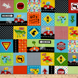 Marcus Go Go Dino! Blocks Bright Fabric