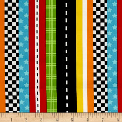 Marcus Go Go Dino! Stripe Multi Fabric