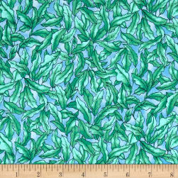 The Rainbow Fish Vegetation Blue Fabric
