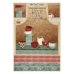 "But First, Coffee! Apron 29.5"" Panel Multi"