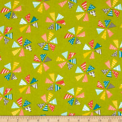 Moda Mixed Bag Flannels Pinwheels Grass Fabric