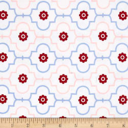 Kaufman Catalina Interlock Knit Trellis Blossom Fabric