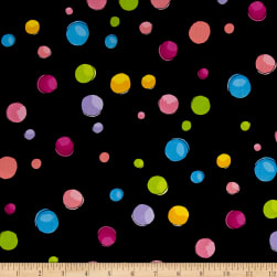 Loralie Designs Blossom Dream Dots Black Fabric
