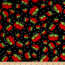 Loralie Designs Sew Fabulous! Pin Dots Black Fabric