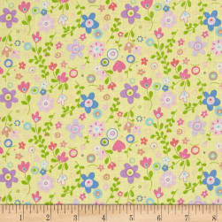 Church Ladies Floral Yellow Fabric