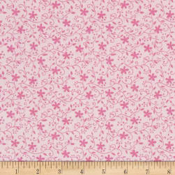 Church Ladies Floral Peach Fabric