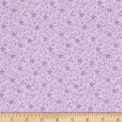 Church Ladies Floral Violet Fabric