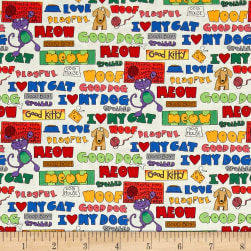 Love is a Four Legged Words Multi Fabric