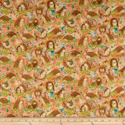 Hedgehog Village Hedgehogs Orange Fabric