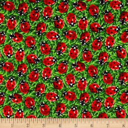 You Bug Me Ladybug Green Fabric