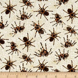 You Bug Me Spiders Ecru Fabric