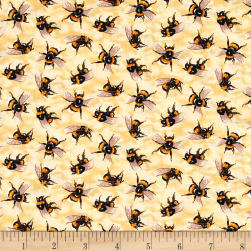 You Bug Me Bees Yellow Fabric