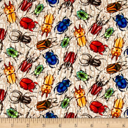 You Bug Me Multi Color Beetles Fabric