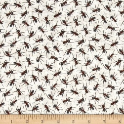 You Bug Me Ants Ecru Fabric
