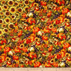 Bountiful Harvest Double Face Quilted Multi Fabric