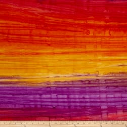 Kaufman Artisan Batiks Patina Handpaints Stripes Bright Fabric