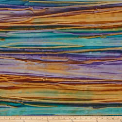 Kaufman Artisan Batiks Patina Handpaints Bold Stripes Jewel