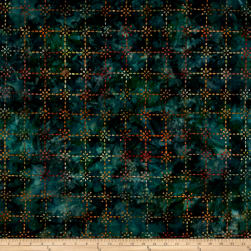 Kaufman Artisan Batiks Enchanted Trellis Meadow Fabric
