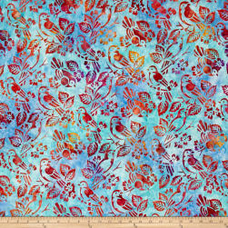 Kaufman Artisan Batiks Songbird Birds Celebration Fabric