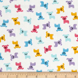 Kaufman Urban Zoology Minis Dogs Spring Fabric