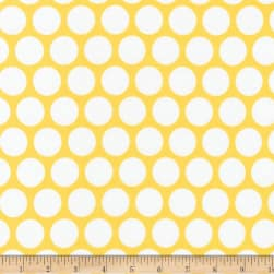 Kaufman Spot On Geo Dot Yellow Fabric