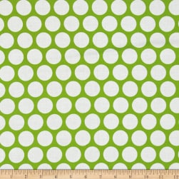 Kaufman Spot On Geo Dot Lime Fabric